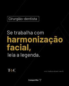 CIRURGIÃO-DENTISTA, SE TRABALHA COM HARMONIZAÇÃO FACIAL, LEIA A LEGENDA.